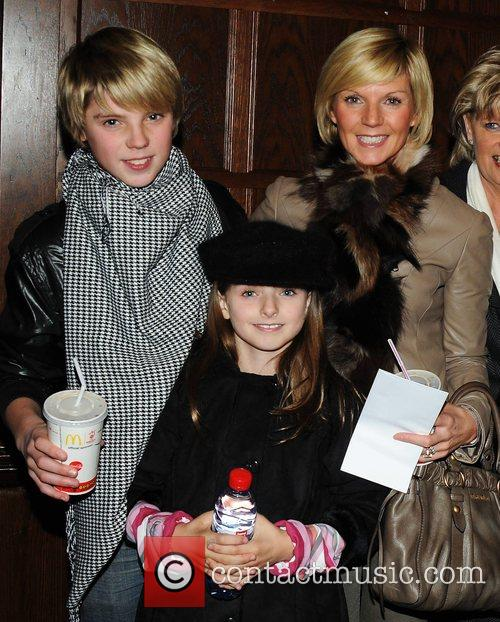 Lisa Duffy with son Jordan and daughter Mia...