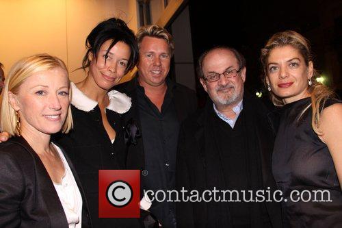 Cindy Sherman, Kim Heirston, guest, Salman Rushdie and...
