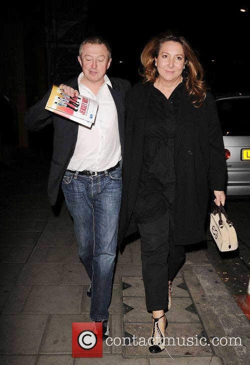 Louis Walsh and a friend outside Claridges