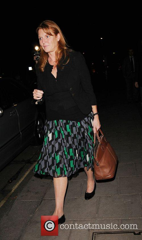 Sarah, Duchess of York outside Claridges