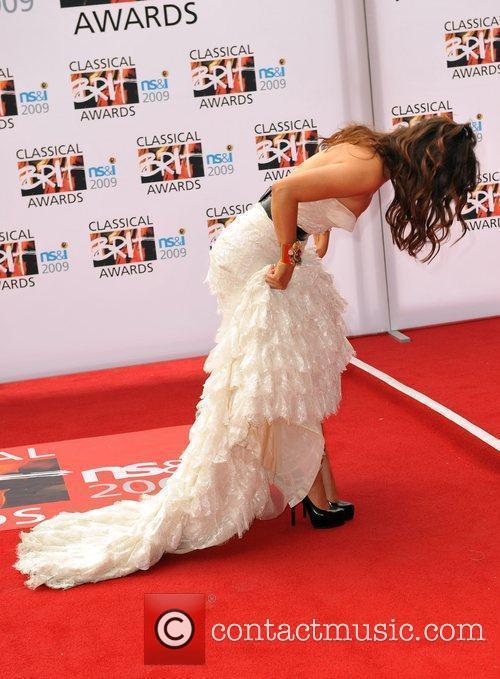 Myleene Klass Classical Brit Awards 2009 held at...