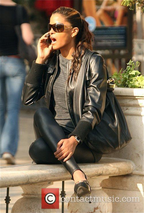 Claudia Jordan seen out shopping in Hollywood before...