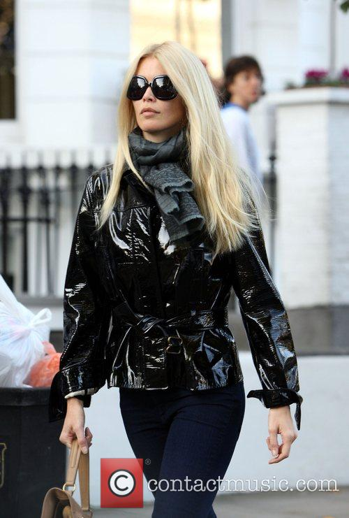 Claudia Schiffer looking very chic as she brings...