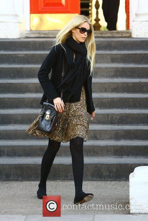 Claudia Schiffer  dropping her children off at...