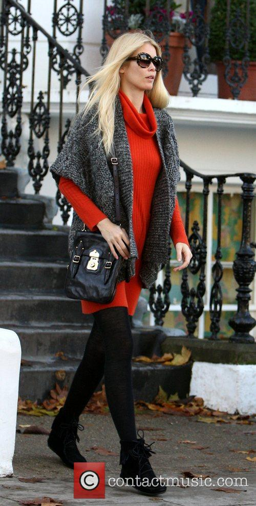 Claudia Schiffer leaving her house London, England