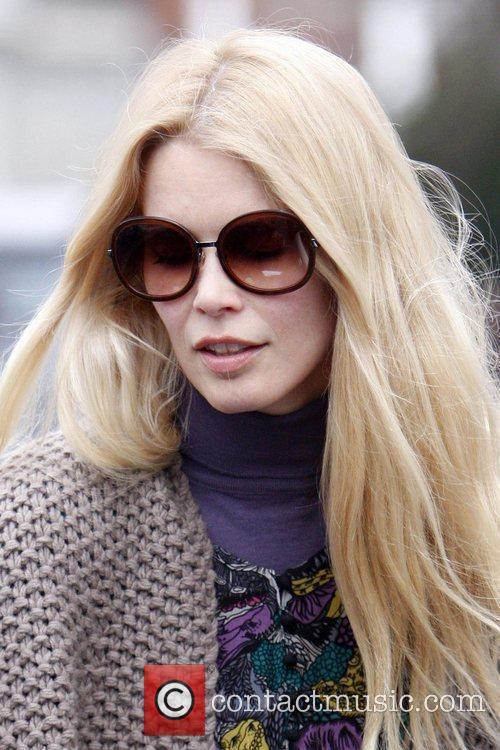 Claudia Schiffer collecting her children Caspar Matthew and...
