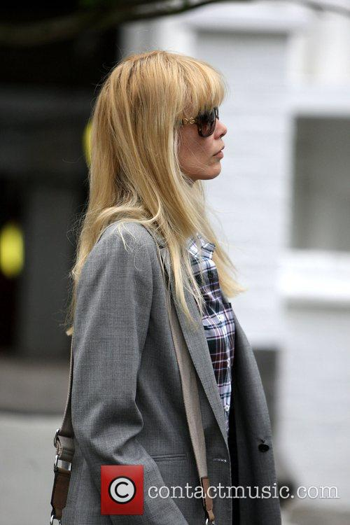Claudia Schiffer  makes her way home after...