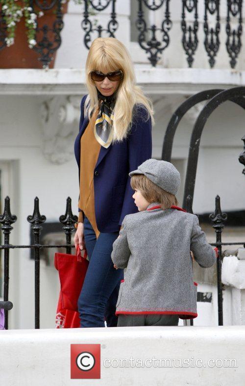 Claudia Schiffer dropping her son Casper off at...