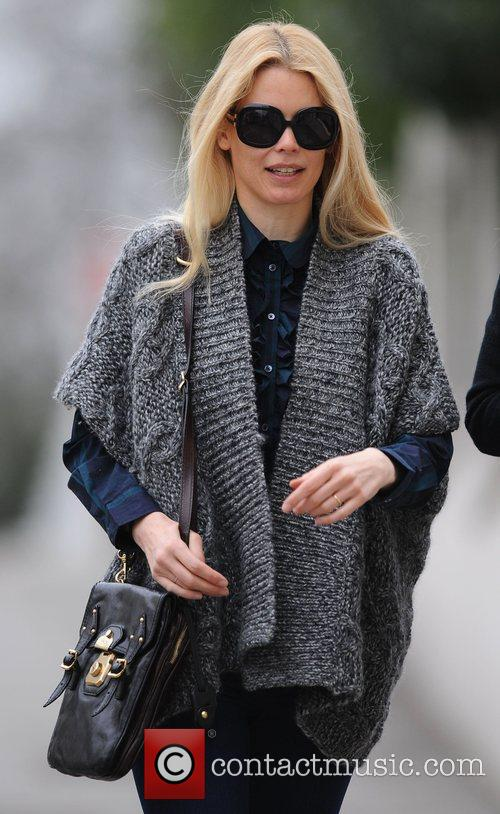 Claudia Schiffer out for a coffee with a...