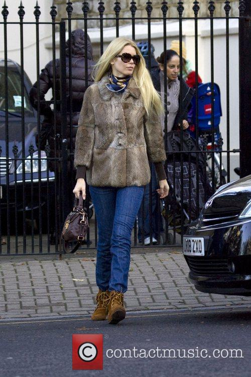 Claudia Schiffer drops her children off at school...