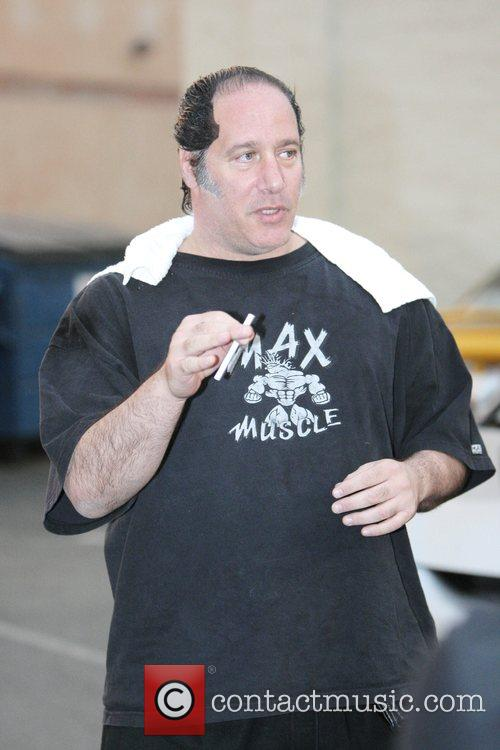 Andrew Dice Clay has lunch at Cafe Roma...