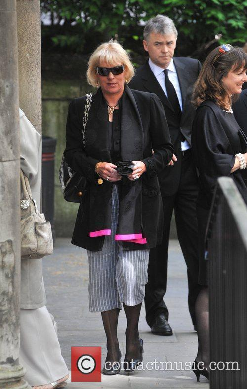 Carol Thatcher Sir Clement Freud's funeral held at...