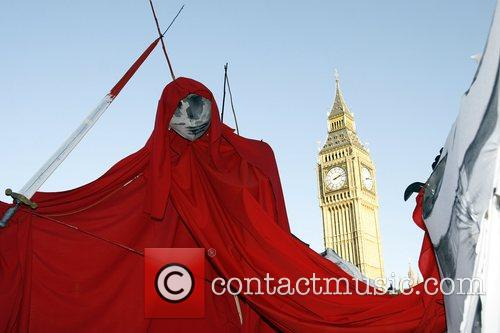 A campaign march against Climate Change through London's...