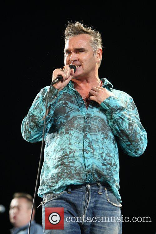 Morrissey performing Coachella Music Festival 2009 - Day...