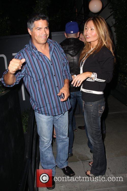 Esai Morales arrives at Coco De Ville nightclub...