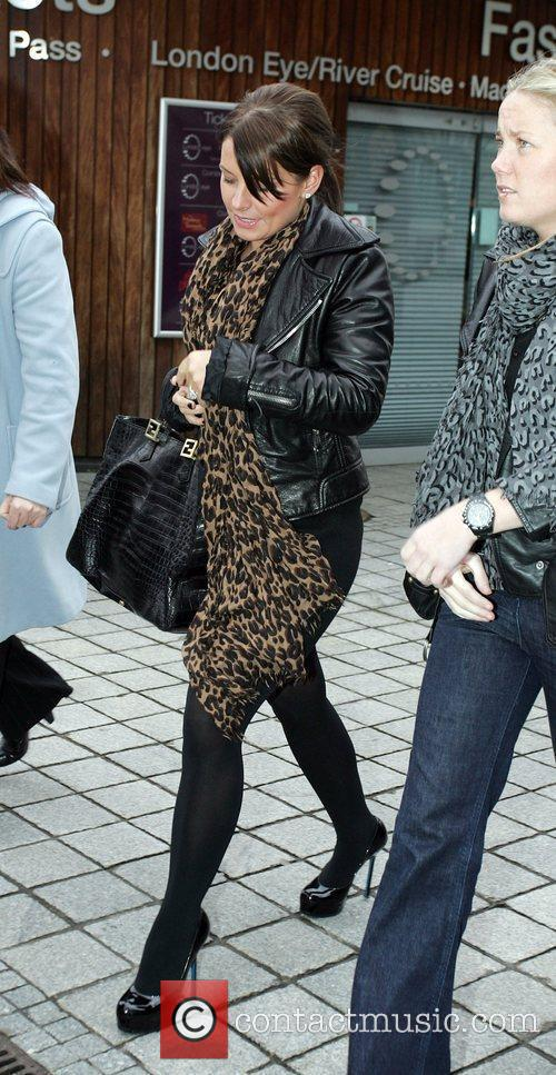 Coleen Rooney and friends head to Westminster Pier...