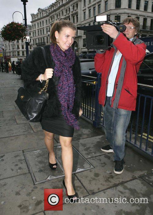 Coleen Rooney goes to Coast on Regent Street...