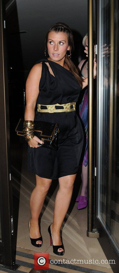 Coleen McLoughlin leaves the Ivy restaurant after dining...
