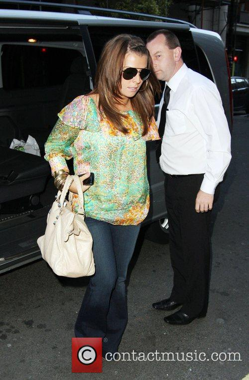 Coleen Rooney arrives back at the the Mayfair...