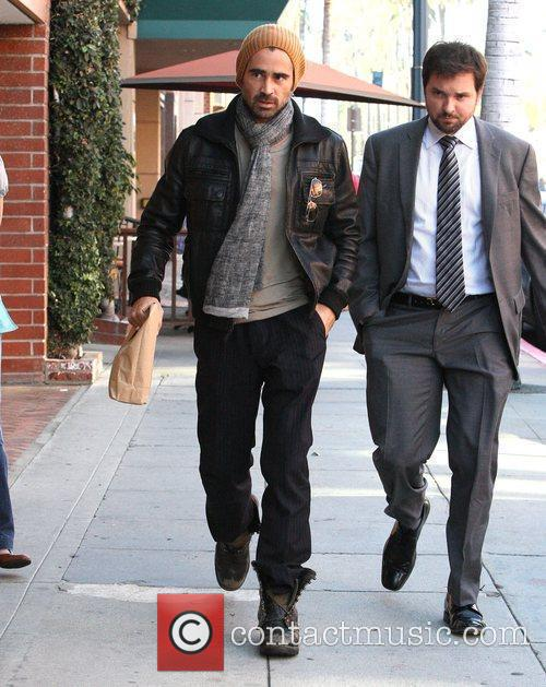 Colin Farrell leaving a medical centre in Beverly...