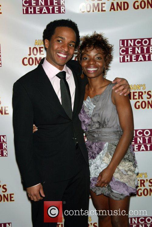 Andre Holland and Marsha Stephanie Blake Opening night...