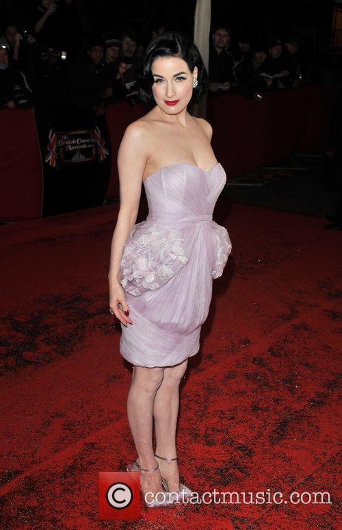 Dita Von Teese British Comedy Awards held at...