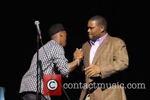Lavar Walker and Anthony Anderson perform during the...