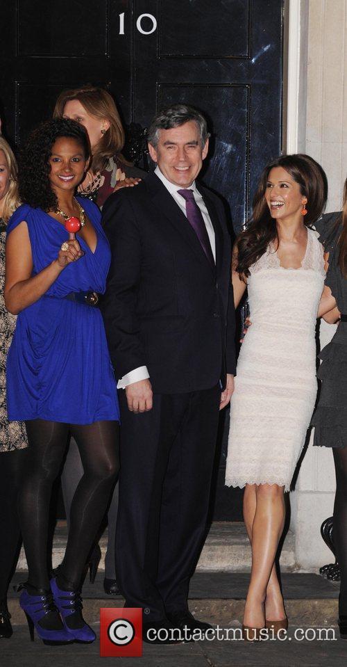 Alysha Dixon, Gordon Brown and Cheryl Cole Prime...