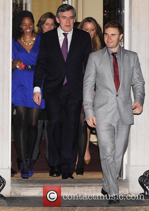 Alysha Dixon, Gordon Brown and Gary Barlow Prime...
