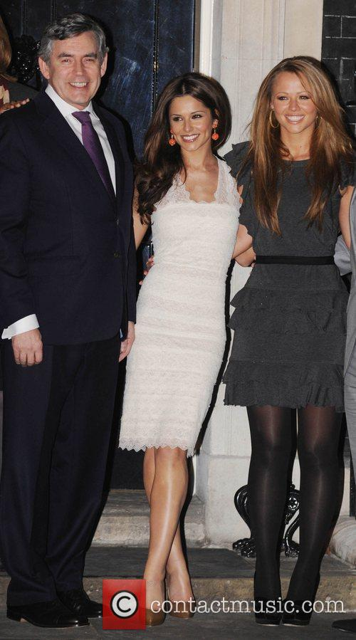 Gordon Brown, Cheryl Cole, Kimberly Walsh and 10 Downing Street 1