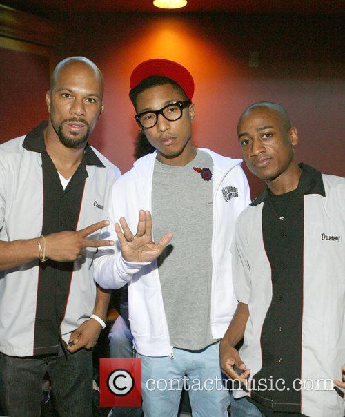 Common, Pharrell Williams, DJ Dummy  Common hosts...
