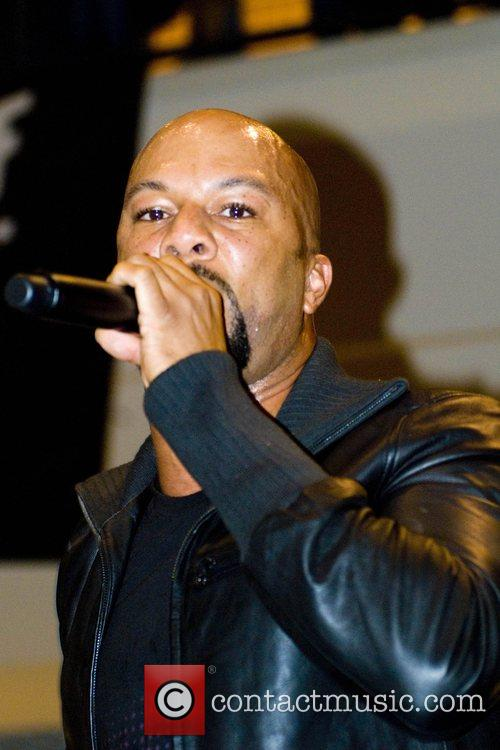 Common performing at the launch of Nike's 'House...