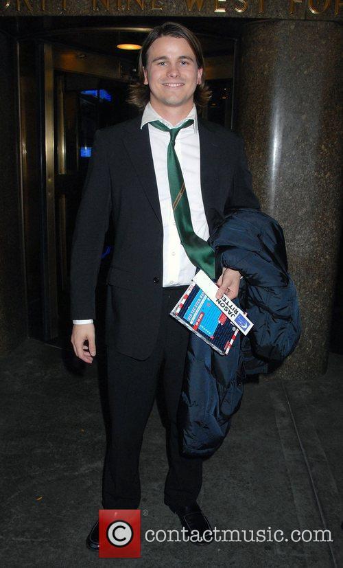 Jason Ritter outside NBC Studios after an appearance...