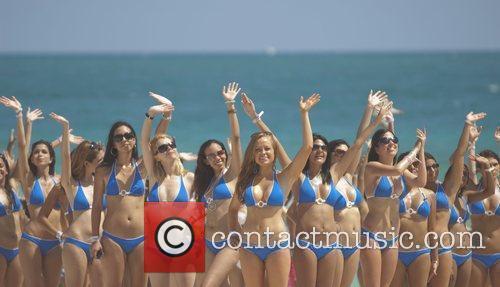 Models at Cosmopolitan Magazine's Second Annual Bikini Bash...
