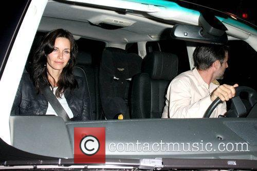 Courteney Cox and David Arquette leaving the STK...