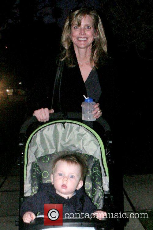 Courtney Thorne-Smith goes for a stroll with her...