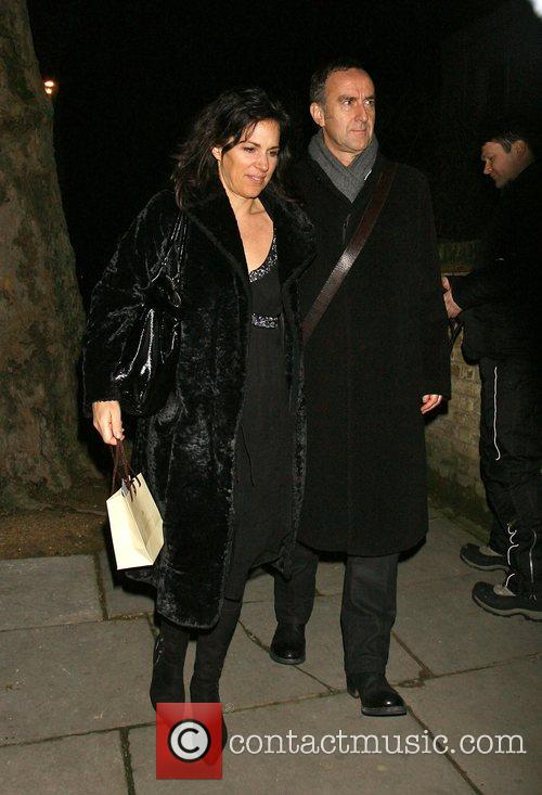 Angus Deayton and Guest attending the Freud Annual...
