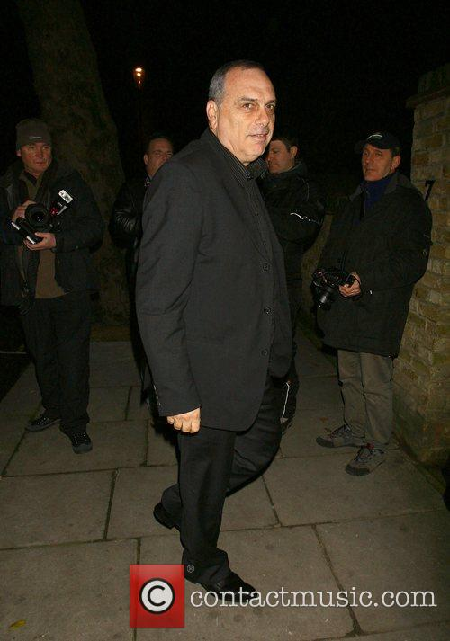 Avram Grant attending the Freud Annual Christmas Party...