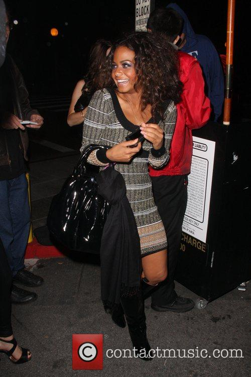 Christina Milian leaves Crown bar Los Angeles, California