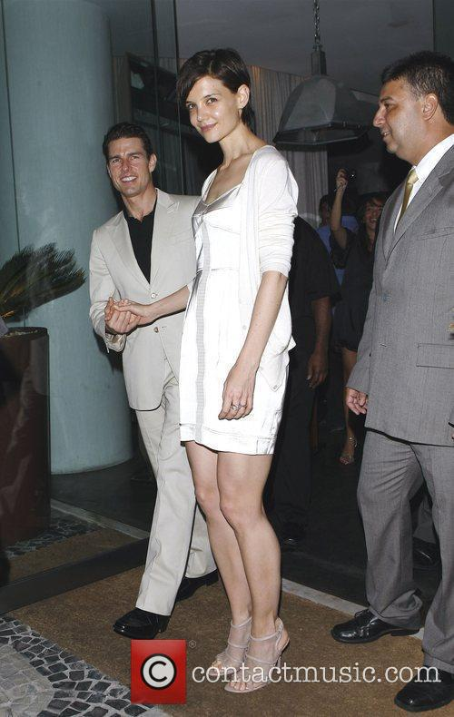 Tom Cruise and Katie Holmes  leaving Porcao...