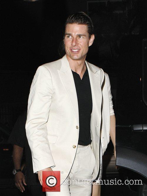 Tom Cruise leaving Porcao restaurant after having dinner...