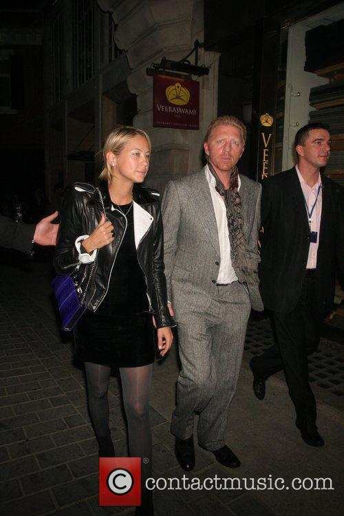 Boris Becker leaving Cuckoo club with a female...