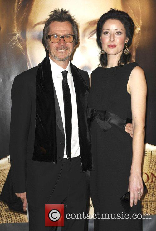 Gary Oldman and guest The Los Angeles Premiere...