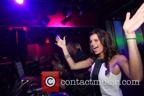 Trish Trevino Dallas Cowboy Cheerleaders at Aura Nightclub,...