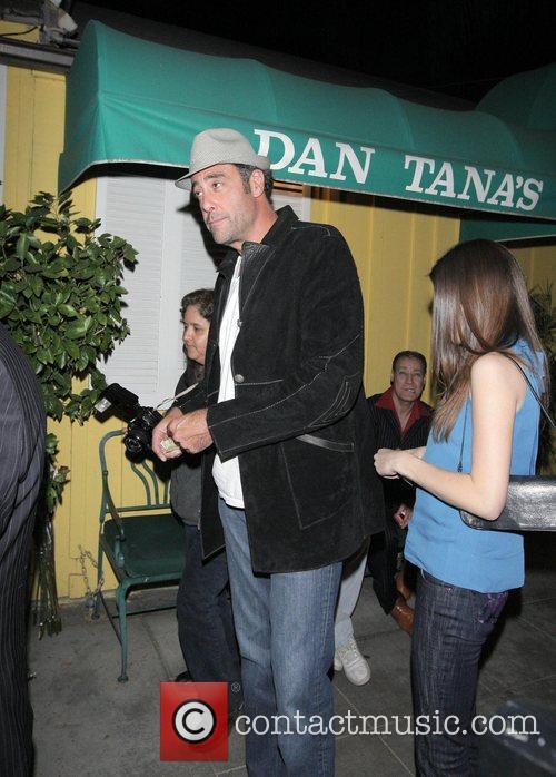 Brad Garrett Leaving Dan Tanas restaurant Hollywood, California