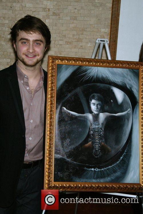 Receives a portrait on Tony's di Napoli Wall...