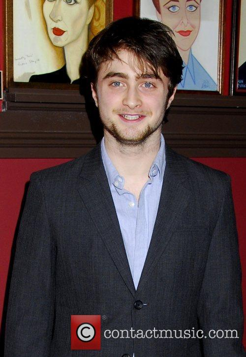 Daniel Radcliffe  receives his portrait celebrating his...