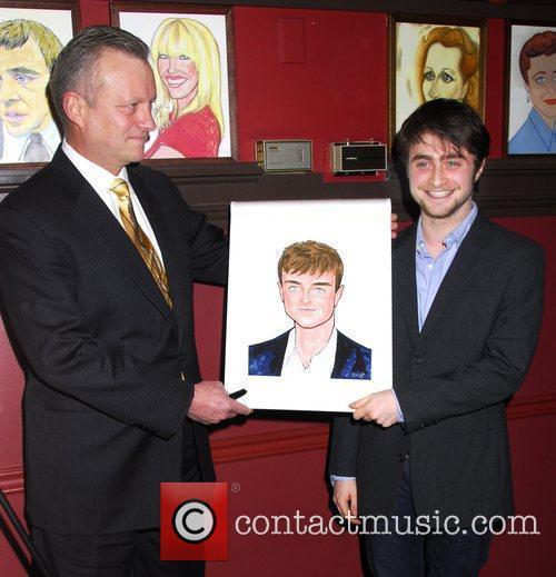 Receives his portrait celebrating his performance in 'Equus'...