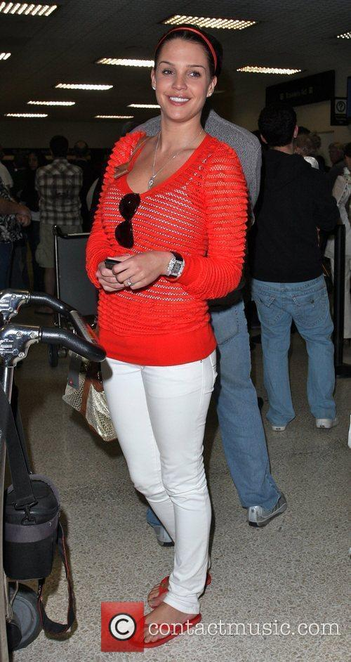 Danielle Lloyd arriving at LAX airport after a...