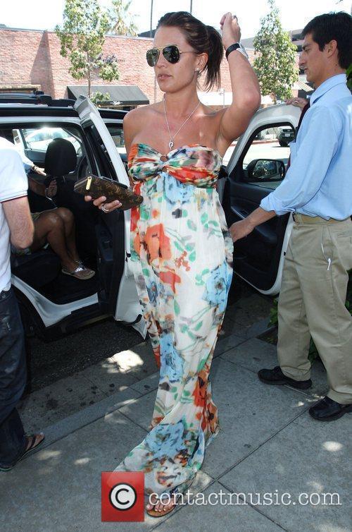 Danielle Lloyd arrives at theat the Ivy restaurant...